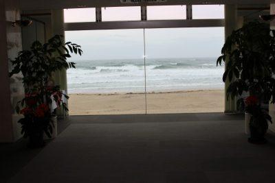 御宿海のホテルロビー